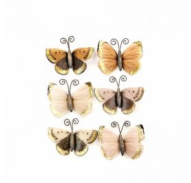 6 papillons  'Prima - Pretty Pale' Mystical Flight