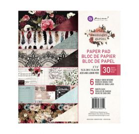 Assortiment de 30 papiers doubles 15x15 'Prima - Midnight Garden'