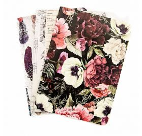 Lot de 3 Carnets B6 'Prima - Traveler's Journal' Midnight Garden 17.5x12.5 cm