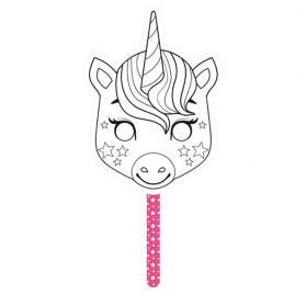 Masque Graffy Stick à customiser 'Avenue Mandarine' Licorne