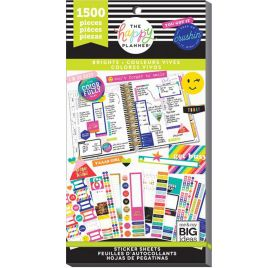 Bloc de 1500 autocollants 'Me & My Big Ideas - The Happy Planner' Bright Monthly