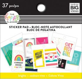 Petit bloc de 37 autocollants 'Me & My Big Ideas - The Happy Planner' Happy Brights