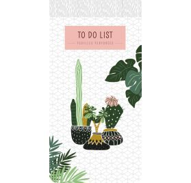 Bloc-notes To Do List  'PaperStore' Plantes 21.5x10.5 cm