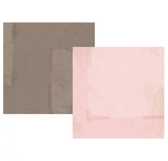 Papier double 30x30 'Simple Stories - Simple Vintage Traveler' Rose/Marron