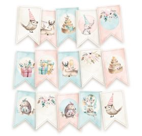 15 Die-cuts 'Piatek - Cute & Co' Fanions