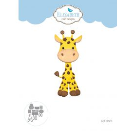 12 Dies/ Matrices de découpe 'Elizabeth Craft Designs' Girafe