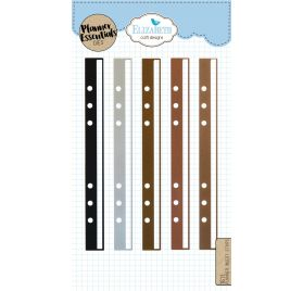 5 Dies/ Matrices de découpe 'Elizabeth Craft Designs - Planner Essentials' Bandes d'insertion pour planner