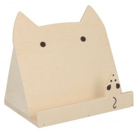 Support Tablette en bois 'Artemio' chat