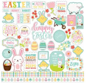 Autocollants 30x30 'Echo Park Paper - Easter Wishes'
