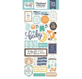 Chipboards autocollants 'Echo Park Paper - Hello Baby It's a boy' Phrases