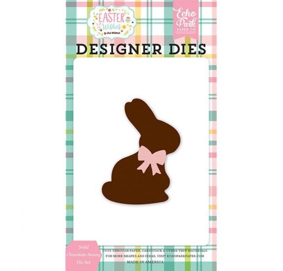 2 Dies / Matrices de découpe 'Echo Park Paper - Easter Wishes' Lapin en chocolat