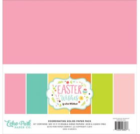 Assortiment de 6 papiers doubles 30x30 'Echo Park Paper - Easter Wishes'