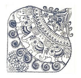 Plaque de texture 'Cernit' Indian Elephants 9x9 cm