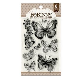 8 Tampons transparents 'BoBunny' Butterfly