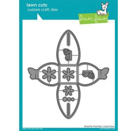 7 Dies / Matrices de découpe 'Lawn Fawn' Butterfly Treat Box