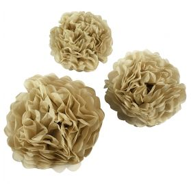 Lot de 3 pompons en papier  'Creativ Company - Happy Moments ' Blanc Diamètre 20/24/30 cm