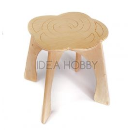 Chaise en bois à monter 'Idea Hobby' Rose 35x32x30 cm