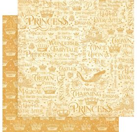 Papier double 30x30 'Graphic 45 - Princess' If the Crown Fits