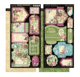 Die-cuts 'Graphic 45 - Bloom' Tags et pochettes