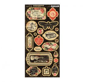 23 Chipboards 'Graphic 45 - Love Notes'