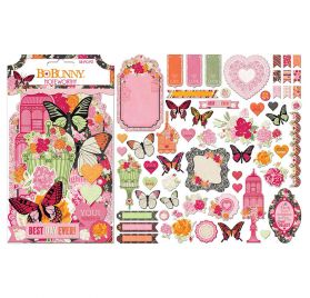 Assortiment de 58 die-cuts 'Bobunny - Sweet Clementine' Noteworthy