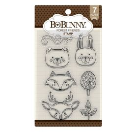 7 Tampons transparents 'BoBunny' Forest Friends