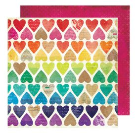 Papier double 30x30 'Vicki Boutin - Color Kaleidoscope' Paper Hearts