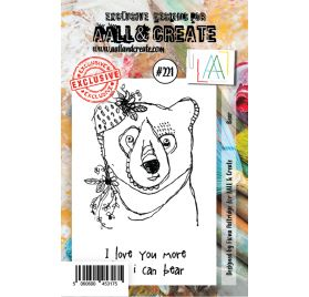 Tampons transparents 'AALL and Create' Bear 221