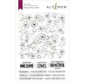 12 Tampons transparents 'Altenew' Delicate Flower Bed