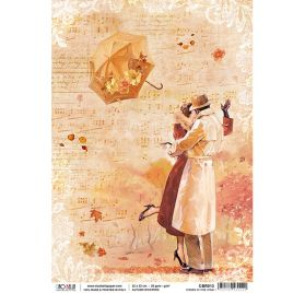 Papier de riz A4 'Ciao Bella' Kisses In The Wind