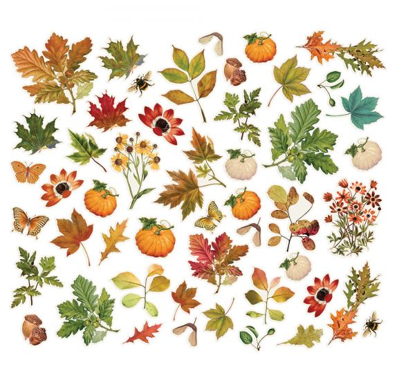 49 Die-cuts 'Simple Stories - autumn splendor  ' Foliage Bits & Pieces