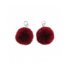 Mini pompons 'Rico Design' Bordeaux