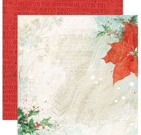Papier double 30x30 'Simple Stories - Country Christmas' Glad Tidings