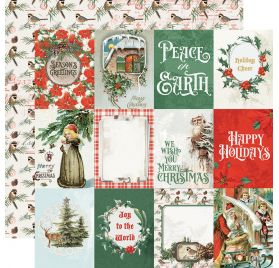 Papier double 30x30 'Simple Stories - Country Christmas' 3x4 Elements
