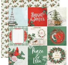 Papier double 30x30 'Simple Stories - Country Christmas' 4x4 Elements