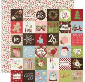 Papier double 30x30 'Simple Stories - Holly Jolly' 2x2 Elements