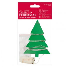 Guirlande lumineuse 'Docrafts - Create Christmas' Multicolore 20 LEDs