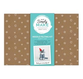 Kit créatif 'Docrafts - Simply Make' Chat en laine à feutrer