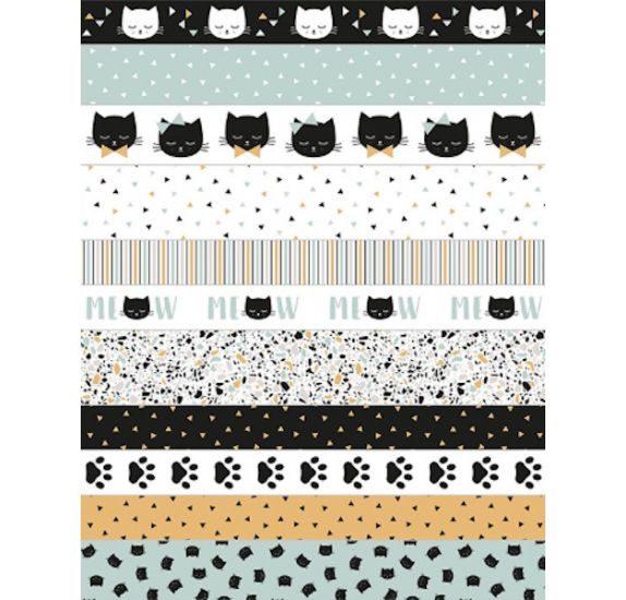 Autocollants masking tape 'Artemio - Terrazzo Cat'