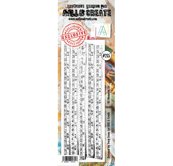 Tampon transparent 'AALL and Create' All Measured Up 235