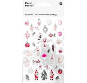 Autocollants Epoxy  'Rico Design - Paper Poetry' Nostalgic Christmas Pastel