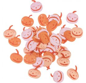 40g de Confettis 'Rico Design - Let's Party' Citrouilles