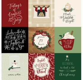 Papier double 30x30 ' Echo Park Paper - A Cozy Christmas' 4x4 Journaling Cards