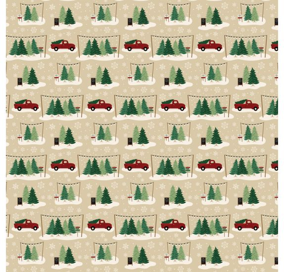 Papier double 30x30 ' Echo Park Paper - A Cozy Christmas' Tree Farm