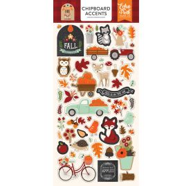 Chipboards autocollants 'Echo Park Paper - My Favorite Fall'