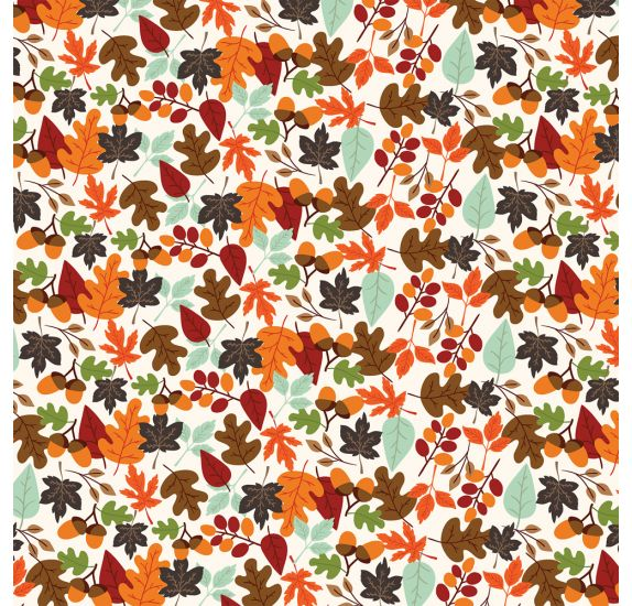 Papier double 30x30 ' Echo Park Paper - My Favorite Fall' Falling Leaves