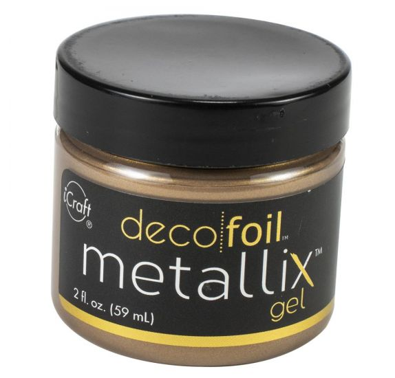 Pâte de texture 'Thermoweb - Deco Foil' Metallix Gel Or 59 ml