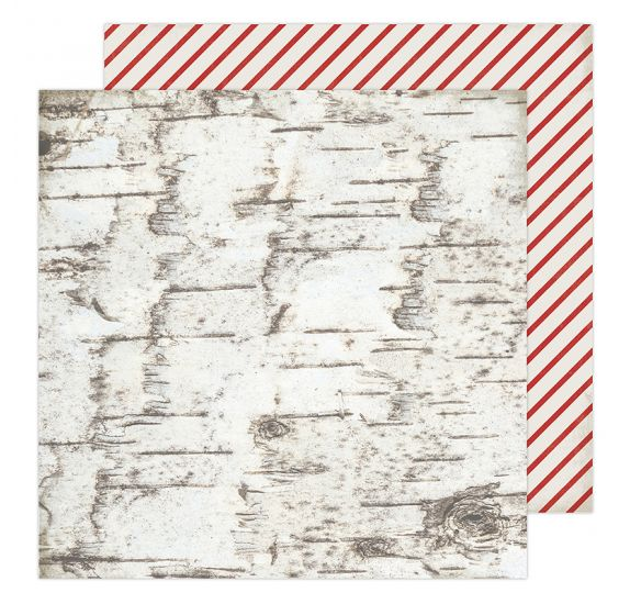 Papier double 30x30 'Heidi Swapp - Winter Wonderland' Candycane Forest