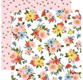 Papier double 30x30 'Carta Bella - Oh Happy Day' Lovely Floral