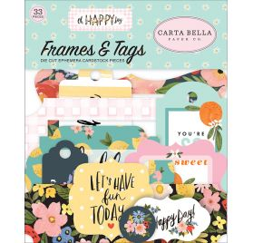 33 die-cuts 'Carta Bella - Oh Happy Day' Cadres et Tags